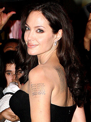 angelina jolie tattoos. angelina jolie tattoos