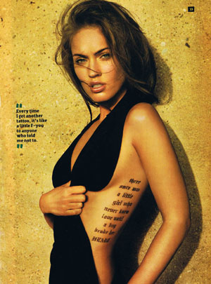 Labels: Megan Fox's tattoo