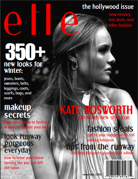 Elle Magazine Cover - Kate Bosworth